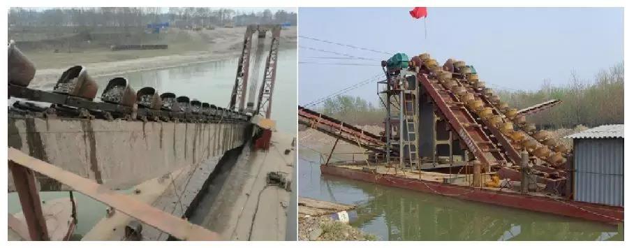 挖沙船工作流程